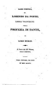 Memorie di Lorenzo Da Ponte da Ceneda in tre volumi scritte da esso: - Saggi poetici di Lorenzo Da Ponte, Volume 3