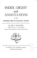 Index digest and Annotations to the Uniform Code of Military Justice PDF