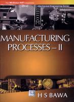 Manufacturing Processes   Ii PDF