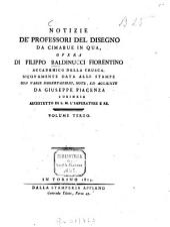 Notizie de'professori del disegno da Cimabue in qua: Volume 3