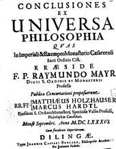 Conclusiones ex universa philosophia