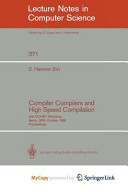 Compiler Compilers and High Speed Compilation