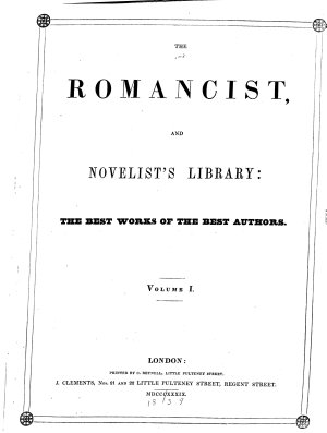 The Romancist  and Novelist s Library  the Best Works of the Best Authors PDF