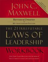 The 21 Irrefutable Laws of Leadership Workbook PDF