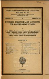 Business Practice and Accounts for Cooperative Stores