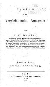 System der vergleichenden Anatomie: Band 2,Teil 2
