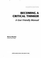 Becoming a Critical Thinker PDF