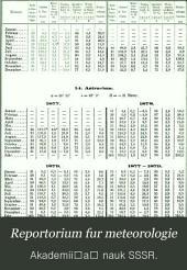Meteorologicheskii sbornik: Reportorium fur meteorologie