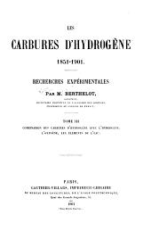 Les carbures d'hydrogène 1851-1901: Recherches expérimentales. Tome I-[III] ...