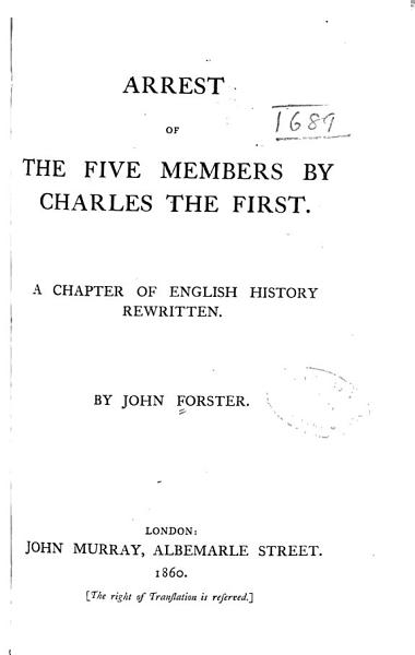Arrest of the Five Members by Charles the First PDF