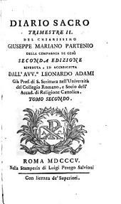Diario sacro del chiarissimo Giuseppe Mariano Partenio [pseudon.].
