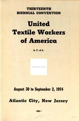 Regular Convention United Textile Workers Of America Book PDF