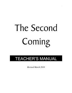 The Second Coming   Teacher s Manual PDF Book