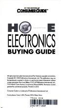Home Electronics Buying Guide PDF