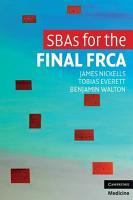 SBAs for the Final FRCA PDF
