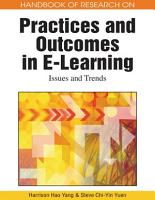 Handbook of Research on Practices and Outcomes in E Learning  Issues and Trends PDF