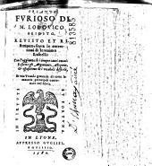 Orlando furioso di M. Lodovico Ariosto, revisto et ristampato, sopra le correttioni di Ieronimo Ruscelli: con l'aggiunta di cinque canti nuoui...