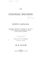The State Records of North Carolina: Volume 9, Part 1