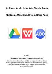 Aplikasi Android untuk Bisnis Anda: #1: Google Mail, Blog, Drive & Office Apps