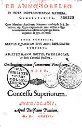 De Anno Iobeleo et tota indulgentiarum materia, Commentarius...