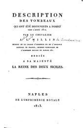 Description des tombeaux qui ont été découverts à Pompeï dans l'année1812