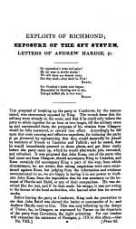 An Exposure of the Spy-system pursued in Glasgow during the years 1816-17-18-19 and 20 [containing the exploits of A. B. Richmond, the Scottish spy] with copies of the original letters of A. Hardie ... The whole edited ... by a Ten-Pounder [i.e. P. Mackenzie].