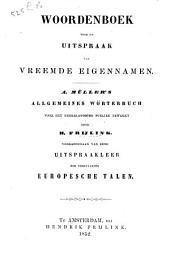 Woordenboek voor de uitspraak van vreemde eigennamen