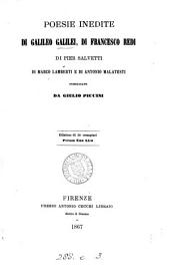 Poesie inedite di Galileo Galilei [and others] pubbl. da G. Piccini