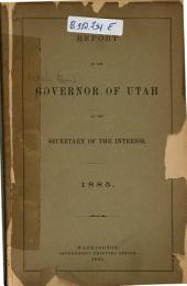 Report of the Governor of Utah to the Secretary of the Interior