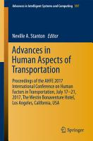 Advances in Human Aspects of Transportation PDF