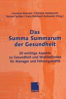 Das Summa Summarum der Gesundheit PDF