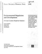 Environmental Regulaton and Development
