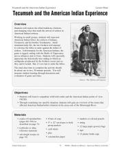 Hands-On History--Tecumseh and the American Indian Experience