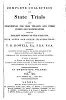 A Complete Collection Of State Trials Vol Xx