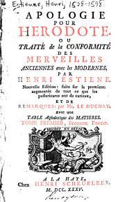 Apologie pour Hérodote, ou, Traité de la conformité des merveilles anciennes avec les modernes: Volume1,Partie2
