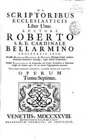 De scriptoribus ecclesiasticis liber unus