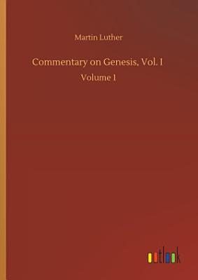 Commentary on Genesis  Vol  I