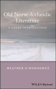 Old Norse Icelandic Literature Book