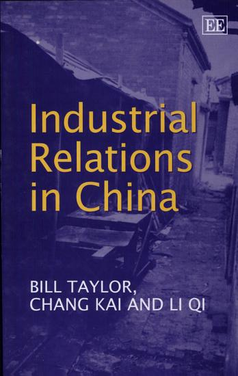 Industrial Relations in China PDF