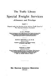 pt. 1-2] Special freight services: allowances and privileges