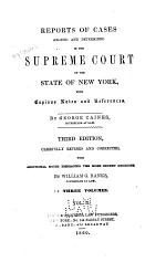 Reports of Cases Argued and Determined in the Supreme Court of the State of New York [1803-1805]