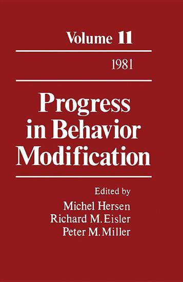Progress in Behavior Modification PDF