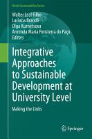Integrative Approaches to Sustainable Development at University Level PDF