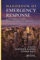 Handbook of Emergency Response PDF