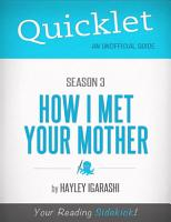 Quicklet on How I Met Your Mother Season 3 PDF