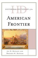 Historical Dictionary of the American Frontier PDF