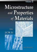 Microstructure and Properties of Materials PDF