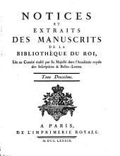 Notices et extraits des manuscrits de la Bibliothèque Nationale et autres bibliothèques: Volume2