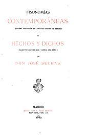 """Estudios sociales, 5: Fisonomías contemporáneas. Hechos y dichos (continuación de las """"Cosas del día"""")"""
