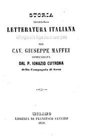 Storia della letteratura italiana-compendiata da Ignazio Cutrona